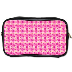 Hana Tsurukusa Heart Pink Toiletries Bag (one Side)