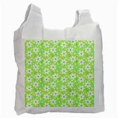 Zephyranthes Candida White Flowers Recycle Bag (two Side) by Pakrebo