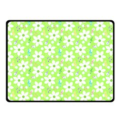 Zephyranthes Candida White Flowers Fleece Blanket (small)