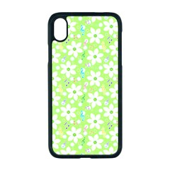 Zephyranthes Candida White Flowers Apple Iphone Xr Seamless Case (black)