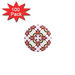 Christmas Wallpaper Background 1  Mini Magnets (100 Pack)