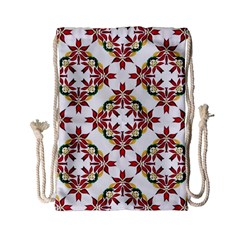 Christmas Wallpaper Background Drawstring Bag (small)