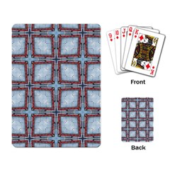 Pattern Cross Geometric Shape Playing Cards Single Design