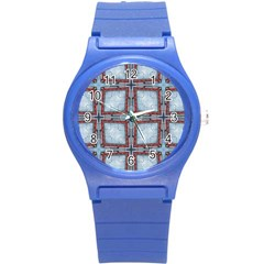 Pattern Cross Geometric Shape Round Plastic Sport Watch (s) by Pakrebo