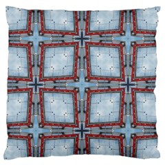 Pattern Cross Geometric Shape Large Flano Cushion Case (two Sides)