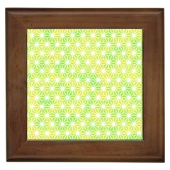 Traditional Patterns Hemp Pattern Green Framed Tiles