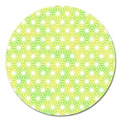 Traditional Patterns Hemp Pattern Green Magnet 5  (round)