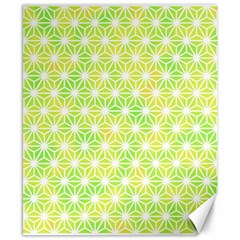 Traditional Patterns Hemp Pattern Green Canvas 8  X 10