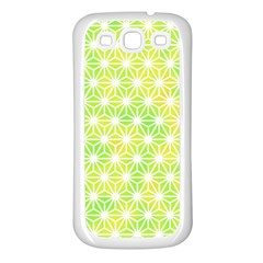 Traditional Patterns Hemp Pattern Green Samsung Galaxy S3 Back Case (white)