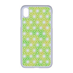 Traditional Patterns Hemp Pattern Green Apple Iphone Xr Seamless Case (white)