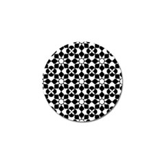 Mosaic Floral Repeat Pattern Golf Ball Marker (4 Pack) by Pakrebo