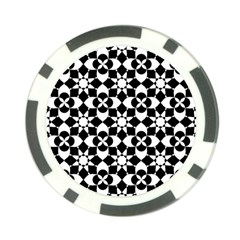 Mosaic Floral Repeat Pattern Poker Chip Card Guard