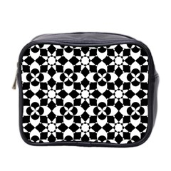 Mosaic Floral Repeat Pattern Mini Toiletries Bag (two Sides)