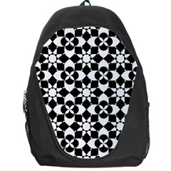 Mosaic Floral Repeat Pattern Backpack Bag