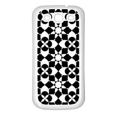 Mosaic Floral Repeat Pattern Samsung Galaxy S3 Back Case (white)