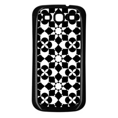 Mosaic Floral Repeat Pattern Samsung Galaxy S3 Back Case (black) by Pakrebo