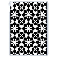 Mosaic Floral Repeat Pattern Apple Ipad Pro 9 7   White Seamless Case