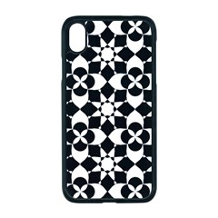Mosaic Floral Repeat Pattern Apple Iphone Xr Seamless Case (black)