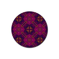 Backdrop Background Cloth Colorful Rubber Round Coaster (4 Pack)  by Pakrebo