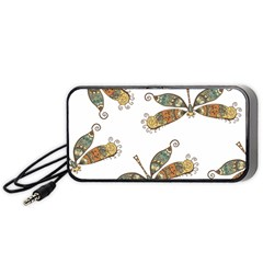 Pattern Dragonfly Background Portable Speaker
