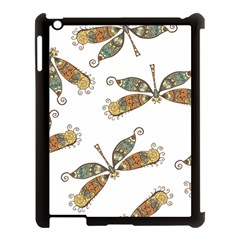 Pattern Dragonfly Background Apple Ipad 3/4 Case (black)