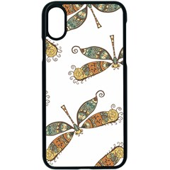Pattern Dragonfly Background Apple Iphone Xs Seamless Case (black)