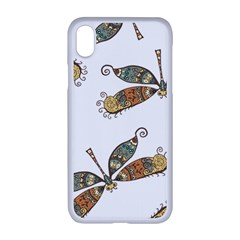 Pattern Dragonfly Background Apple Iphone Xr Seamless Case (white)