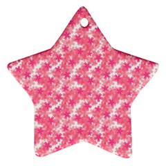 Phlox Spring April May Pink Ornament (star)