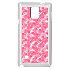 Phlox Spring April May Pink Samsung Galaxy Note 4 Case (white)