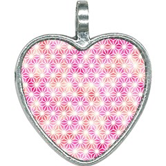 Traditional Patterns Hemp Pattern Heart Necklace