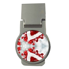 Christmas Background Tile Gifts Money Clips (round)  by Pakrebo