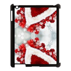 Christmas Background Tile Gifts Apple Ipad 3/4 Case (black)