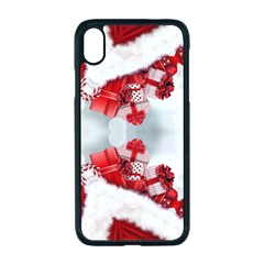 Christmas Background Tile Gifts Apple Iphone Xr Seamless Case (black)