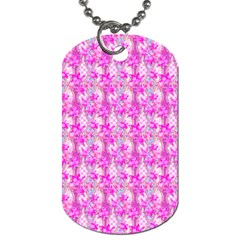 Maple Leaf Plant Seamless Pattern Pink Dog Tag (one Side)