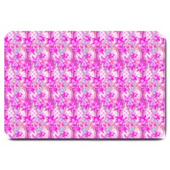 Maple Leaf Plant Seamless Pattern Pink Large Doormat