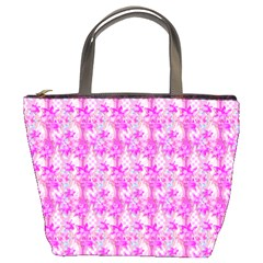 Maple Leaf Plant Seamless Pattern Pink Bucket Bag