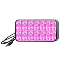 Maple Leaf Plant Seamless Pattern Pink Portable Speaker