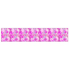 Maple Leaf Plant Seamless Pattern Pink Small Flano Scarf by Pakrebo