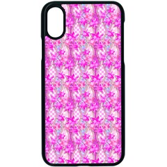 Maple Leaf Plant Seamless Pattern Pink Apple Iphone Xs Seamless Case (black) by Pakrebo