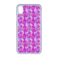 Maple Leaf Plant Seamless Pattern Pink Apple Iphone Xr Seamless Case (white)