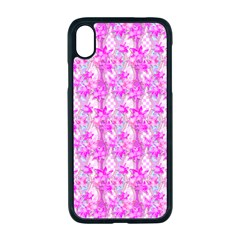 Maple Leaf Plant Seamless Pattern Pink Apple Iphone Xr Seamless Case (black) by Pakrebo