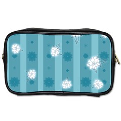 Gardenia Flowers White Blue Toiletries Bag (two Sides) by Pakrebo