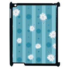 Gardenia Flowers White Blue Apple Ipad 2 Case (black)