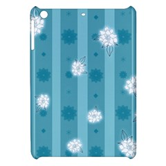 Gardenia Flowers White Blue Apple Ipad Mini Hardshell Case