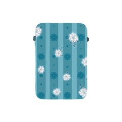 Gardenia Flowers White Blue Apple Ipad Mini Protective Soft Cases