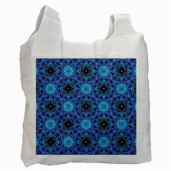 Blue Tile Wallpaper Texture Recycle Bag (one Side)