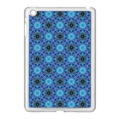 Blue Tile Wallpaper Texture Apple Ipad Mini Case (white)
