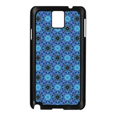 Blue Tile Wallpaper Texture Samsung Galaxy Note 3 N9005 Case (black)