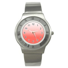 Coral To White Stainless Steel Watch