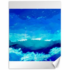Blue Sky Artwork Drawing Painting Canvas 18  X 24